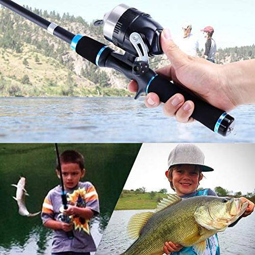 YONGZHI Kids with Reel Telescopic Fishing Kits Fishing
