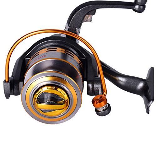 Lifelj Fishing Ball Bearing Spinning Spinning Ratio 5.2:1 for Fishing