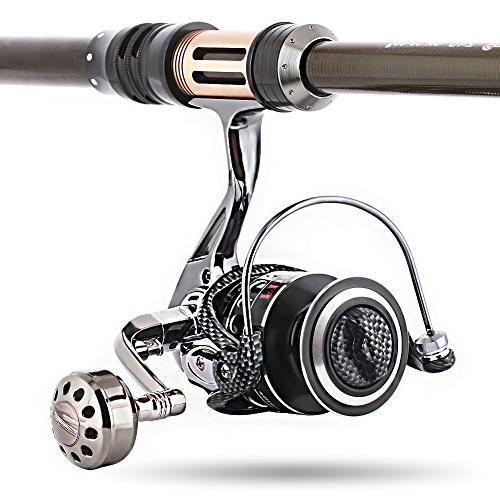 Sougayilang Fishing Reel Double Bearing Smooth 5.2:1 Handle Spinning Reels