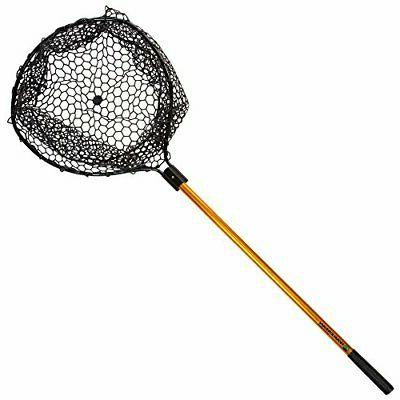 "Wakeman Fishing Retractable Rubber Landing Net with 35"" Hand"