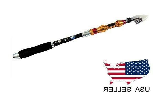 Telescopic Fishing Rod Carbon 1.8m - Retractable