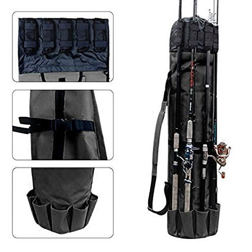 Wowelife Fishing Rod Carrier Fishing Reel Organizer Pole Storage Bag for Fishing and Traveling,A Gift for Family Father Daughter and Friends