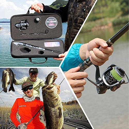 Sougayilang Fishing Combos with Spinning Reels Fishing Bag Freshwater Fishing