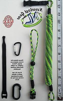 Fishing Rod leash, Kayak leash, Paddle Leash Quick Release.