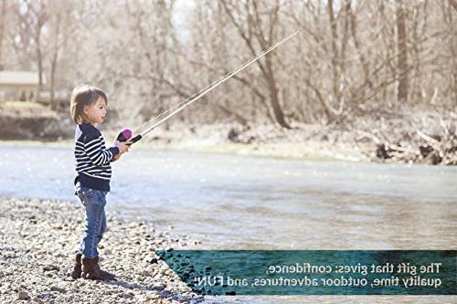 Kids Fishing Rod Fishing Kit Includes Collapsible Rod, Travel | Kids Fishing Pole