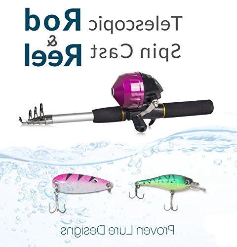 Kids Fishing Girls | All-in-One Set Fishing Rod, Travel Bag, | Pole