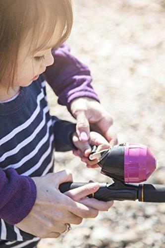 Kids Fishing Rod Girls | Set Fishing Kit Rod, Reel, Tackle Box, Travel Bag, | Perfect Pole Gift Kit