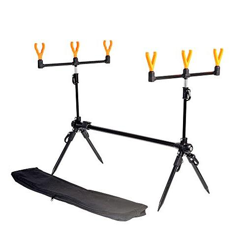 fishing rod stand adjustable retractable