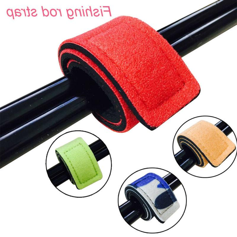 fishing rod tie strap belt tackle elastic