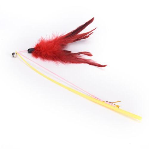 fishing rod type feather wand pet random CYG$