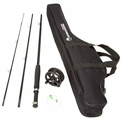 fly fishing combo reel rod starter cast
