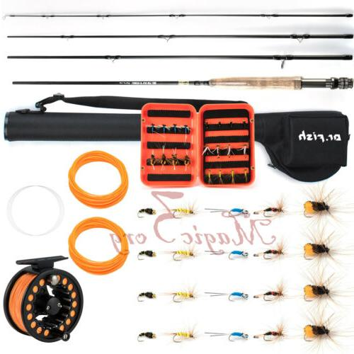 fly fishing rod reel combo portable 9ft