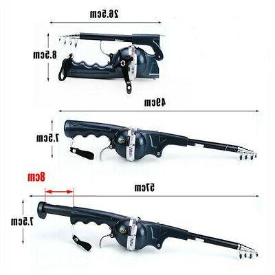 Telescopic Spinning Fishing Rod Reel Line Set Combo Fishing Tool