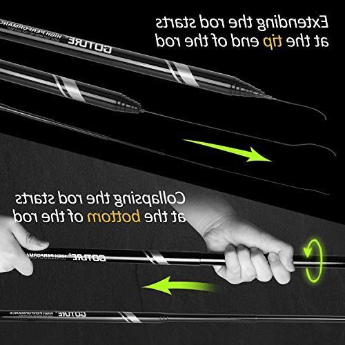 Goture 1 Piece Hard Carp Fiber Rod Free Set