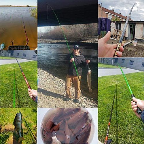 Goture 1 Piece Carp Fishing Fiber Ultralight Fishing Rod 10FT 18FT 21FT 24 FT+ Free Set
