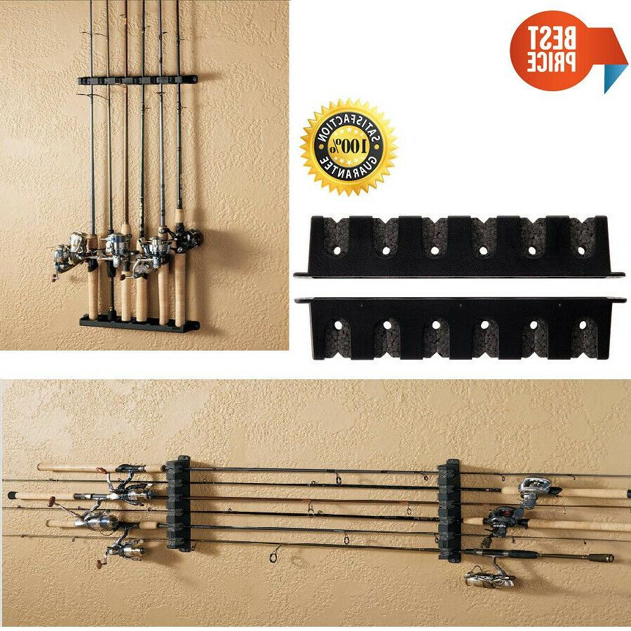 Horizontal Boat Rod Rack Vertical Fishing Holder Wall Mount