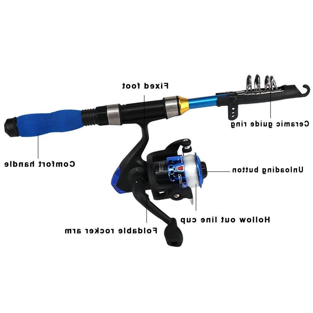 Light Portable Telescopic <font><b>Fishing</b></font> <font><b>Rod</b></font> And Reel <font><b>Fishing</b></font> <font><b>Youth</b></font> <font><b>Fishing</b></font>