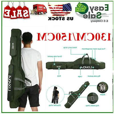 lixada 130cm 150cm fishing bag portable rod