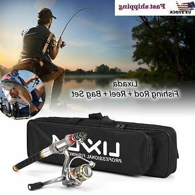 lixada telescopic fishing rod and reel combo