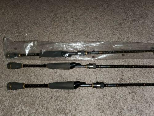 lot of 3 bass fishing spinning rods