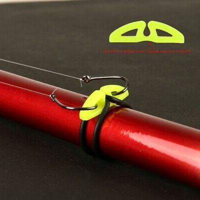 10Pcs Fishing Rod Pole Hook Keeper Lure Spoon Bait Holder Ta