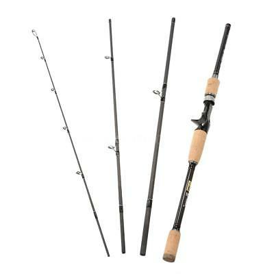 Medium  Baitcasting Fishing Rod Fishing Pole 2.4M Travel Bas