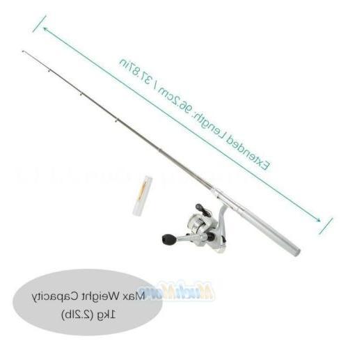 Mini Aluminum Portable Pen Shape Pole+Reel+Fishing Kits