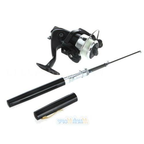 Mini Aluminum Shape Pole+Reel+Fishing