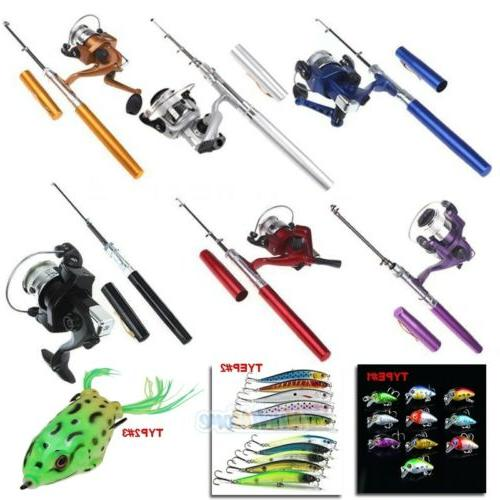 mini aluminum portable pen shape fishing fish