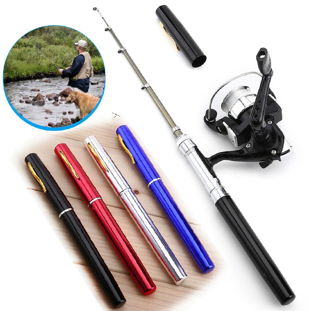 mini fishing rod bait telescopic portable pocket