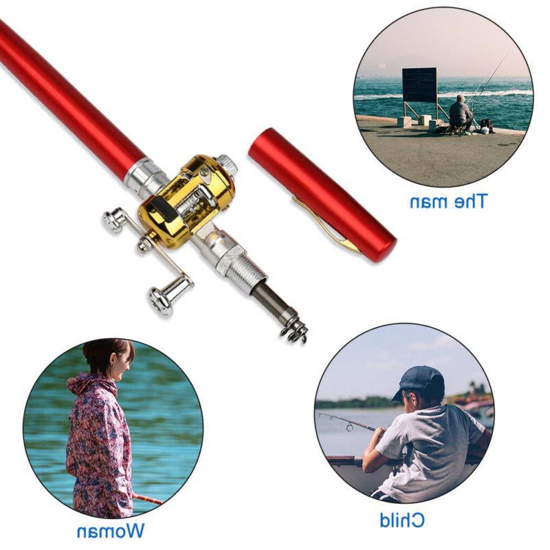 Fish Rod Mini Portable Pen Pole Reel