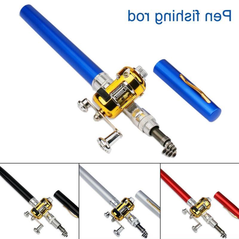 Fish Pen Fishing Rod Pen Rod Pole Reel US