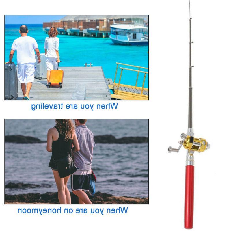 Fish Rod Pen Rod Pen Fishing Pole Reel US