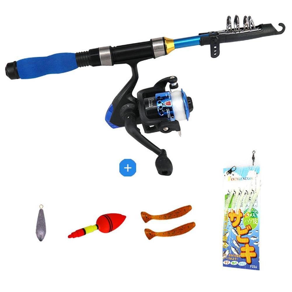 Light Telescopic <font><b>Rod</b></font> And Reel <font><b>Fishing</b></font> Pole Kids <font><b>Youth</b></font> <font><b>Fishing</b></font>