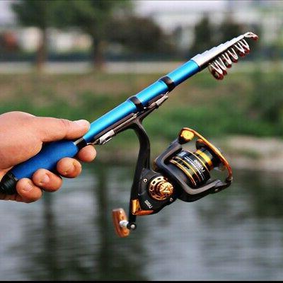 USA Telescopic Fishing Rod Super Short Retractable Folding P