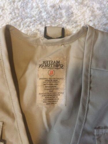 NWT Fishing Vest Khaki X-Large
