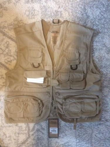 nwt youth fishing vest khaki xl x