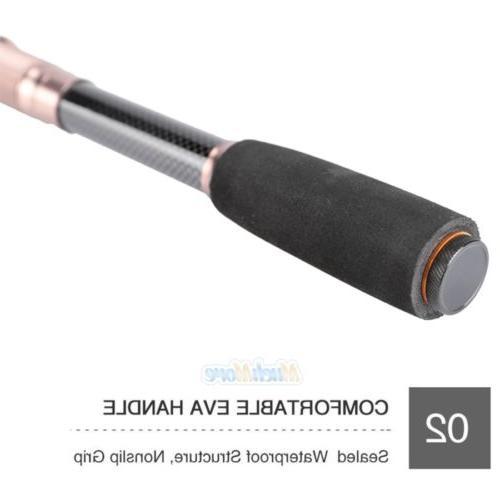 Portable Carbon Superhard Travel Rod Sea Pole