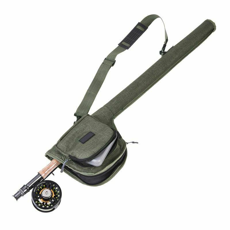 Portable Fishing Rod Bag Rod Reel Canvas Storage Tube Case F