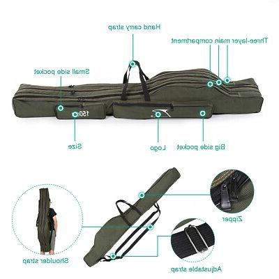 FDDL Portable 150cm Fishing Rod Carrier Canvas Fishing Pole