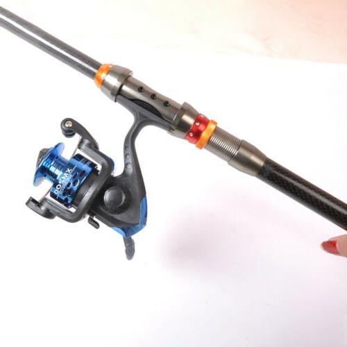 Portable Rod Fishing Rod Sea Fiber 2.1-3.6m US