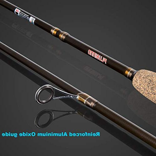 PLUSINNO Two-Piece Rod Graphite Action 7' Rod and Reel