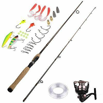 portable two spinning rod graphite