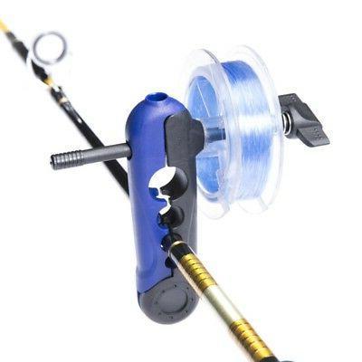 portable universal adjustable fishing line spooler