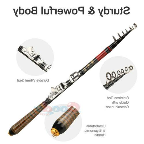 Professional Carbon Fiber Fishing Travel Rod Pole 2.1m