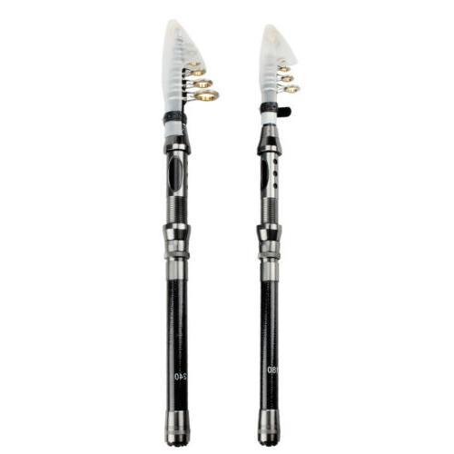 Portable Telescopic Superhard Carbon Fiber Fishing Rod / Fis