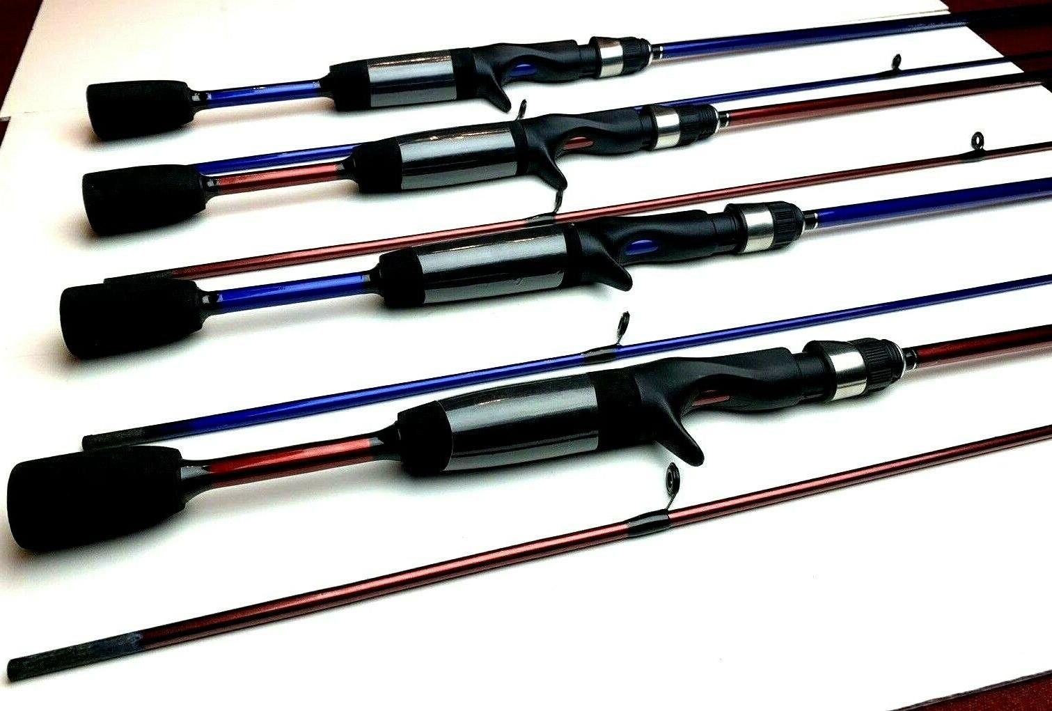 Zebco Rods 5' Casting 2 2-RED 2-BLUE