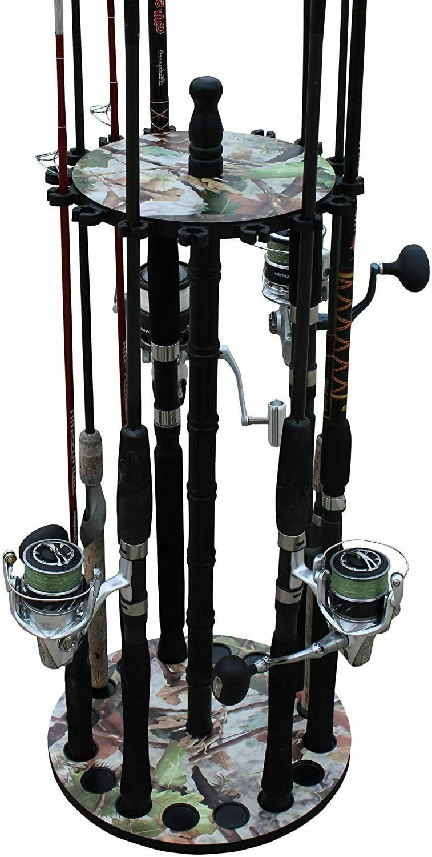 Fishing Rod Reel Combo Rack Storage Organizer Spinning Round