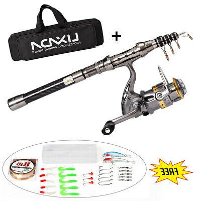 saltwater freshwater telescopic fishing rod with reel