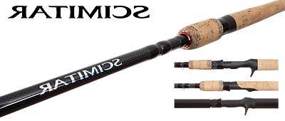 """Shimano Inc. Scimitar 8' 6""""/Med SMS86M2B Spinning Rod Fuji A"""
